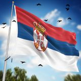 flag serbia Στοκ φωτογραφία με δικαίωμα ελεύθερης χρήσης