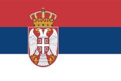 flag serbia Στοκ Φωτογραφίες