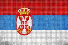 flag serbia Στοκ εικόνες με δικαίωμα ελεύθερης χρήσης
