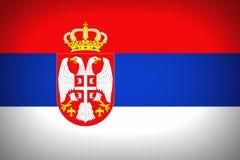 flag serbia Στοκ Εικόνες