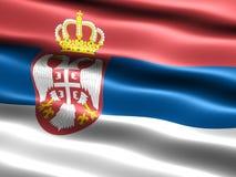 flag serbia Στοκ φωτογραφίες με δικαίωμα ελεύθερης χρήσης