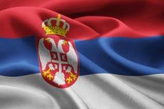 flag serbia Στοκ εικόνα με δικαίωμα ελεύθερης χρήσης