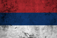 Flag of the Serbia close up Royalty Free Stock Photography