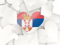 Flag of serbia, heart shaped stickers Stock Image