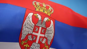 Flag of Serbia. The same tricolor, in altering variations, has been used since the 19th century as the flag of the Serbian nation. The current flag was stock footage