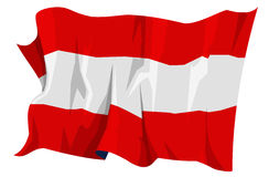 Flag series: Austria. Computer generated illustration of the flag of Austria Stock Image