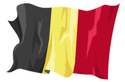 Flag series: Belgium. Computer generated illustration of the flag of Belgium Royalty Free Stock Image