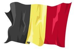 Flag series: Belgium. Computer generated illustration of the flag of Belgium stock illustration
