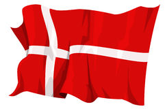 Flag series: Denmark. Computer generated illustration of the flag of Denmark stock illustration