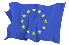 Flag series: Europe. Computer generated illustration of the flag of Europe stock illustration