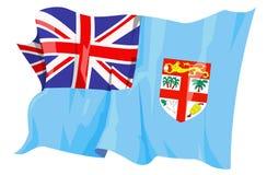 Flag series: Fiji. Computer generated illustration of the flag of Fiji royalty free illustration