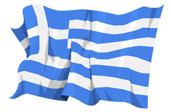Flag series: Greece. Computer generated illustration of the flag of Greece stock illustration