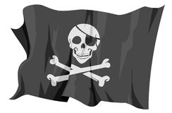 Flag series: Jolly Roger - Pirate flag Stock Photography