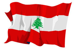 Flag series: Lebanon. Computer generated illustration of the flag of Lebanon Stock Image