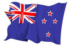 Flag series: New Zealand. Computer generated illustration of the flag of New Zealand Royalty Free Stock Images