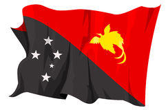 Flag series: Papua New Guinea. Computer generated illustration of the flag of Papua New Guinea royalty free illustration