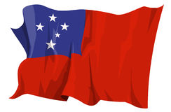 Flag series: Samoa. Computer generated illustration of the flag of Samoa Stock Photography