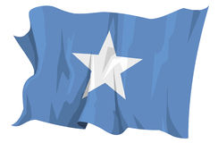 Flag series: Somalia. Computer generated illustration of the flag of Somalia Royalty Free Stock Photography