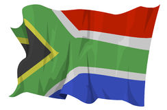 Flag series: South Africa. Computer generated illustration of the flag of South Africa Royalty Free Stock Photography