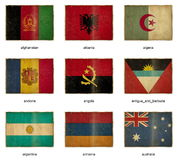 Flag set 1 Royalty Free Stock Photos