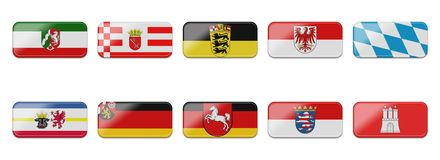 Flag Set Stock Photography