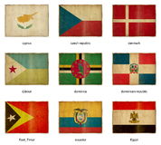Flag set 6 Royalty Free Stock Photos