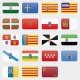 Flag Set of all spanish provices. Vector Collection vector illustration
