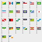 Flag Set of all States of Brazil. Vector Collection vector illustration