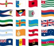 Flag set - part 1/12 - letter A Stock Photos