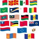 Flag set - part 8/12 - letter M Stock Images