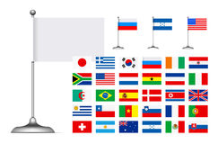 Flag set on white background Stock Photography