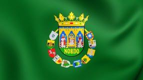 Flag of Seville Province, Spain. Stock Photos