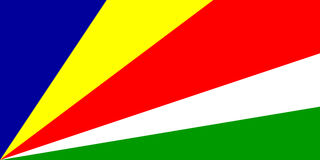 Flag of Seychelles Stock Photo