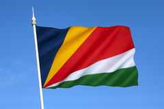 Flag of the Seychelles - Indian Ocean Royalty Free Stock Photo