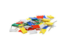 Flag Shape Push Pins Stock Photography