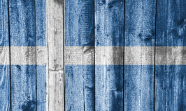 Flag of Shetland Islands on weathered wood Royalty Free Stock Photography