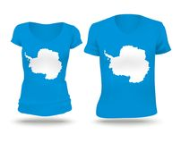 Flag shirt design of Antarctica. Vector illustration royalty free illustration