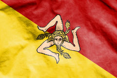 Flag of Sicily, Italy. Stock Images