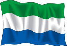 Flag of Sierra Leone Royalty Free Stock Photo