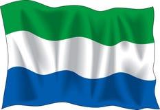 Flag of Sierra Leone Royalty Free Stock Photo
