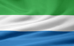 Flag of Sierra Leone. Very large version of a Sierra Leonean flag Stock Image