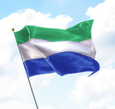 Flag of Sierra Leone Stock Photography
