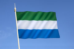 Flag of Sierra Leone Royalty Free Stock Photos