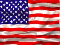 flag silkeslent oss Royaltyfria Foton