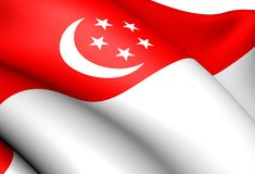 Flag of Singapore Stock Photos