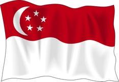 Flag of Singapore royalty free illustration