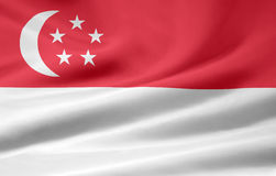 Flag of Singapore stock photography