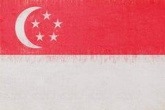 Flag of Singapore Grunge. Royalty Free Stock Photos