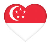 Flag of  Singapore Heart. Stock Images