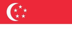 Flag of Singapore Royalty Free Stock Photo